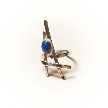 Ring Silver with Lapis lazuli 6