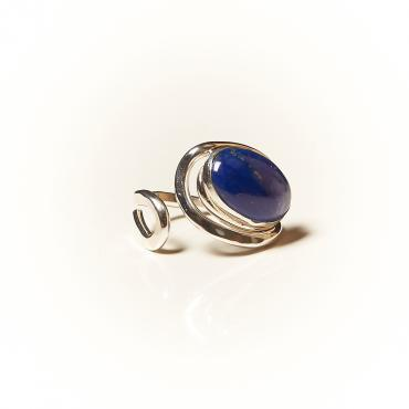 Ring Silver with Lapis lazuli 8