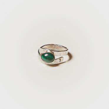 Ring Silver with Malachite 4