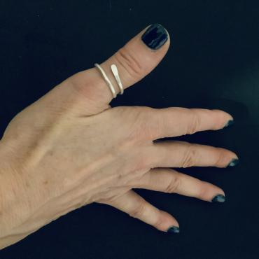 Ring thumb in silver