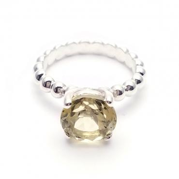 Bague Baroque quartz lemon