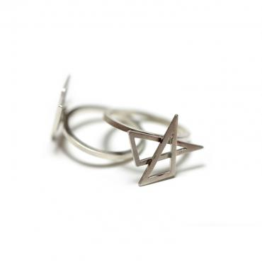 Bague double triangles