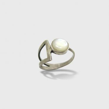 Ring Géomètrique white Mother-of-pearl