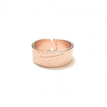 Ring Amazonas rose gold silver gilt