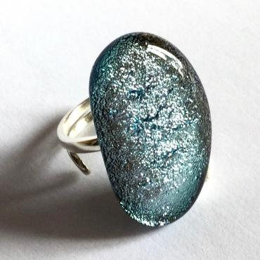 Ring FÈVE dichroic silver
