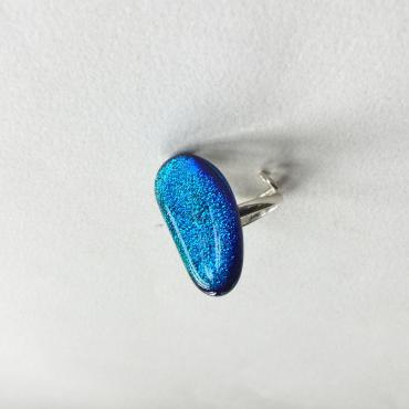 Ring FÈVE dichroic turquoise