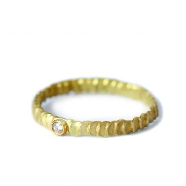Ring Frieda or jaune 18 ct