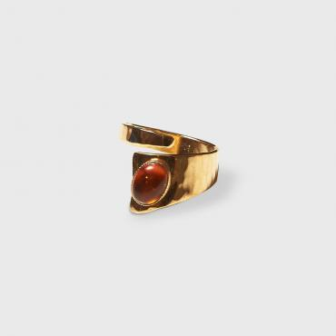 Ring gold-plated with amber 3