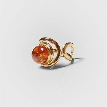 Ring gold-plated with amber 8
