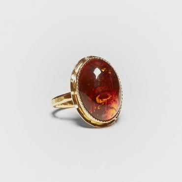 Ring gold-plated with amber 9