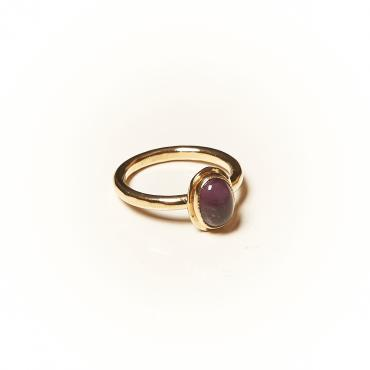 Ring Gold-plated with Amethyst