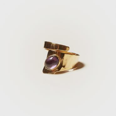 Ring Gold-plated with Amethyst 3