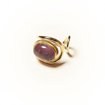 Ring Gold-plated with Amethyst 8