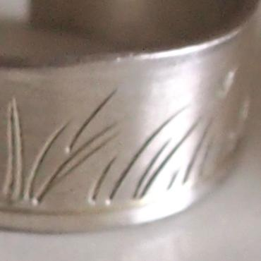 Adjustable Ring in Silver Herbes Folles
