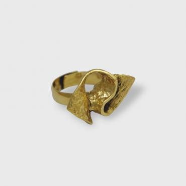 Adjustable Ring in Golden tin