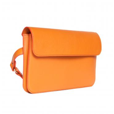 Sac ceinture Frida vachette grainée orange