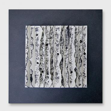 Tableau Bas relief contemporain - Porcelaine