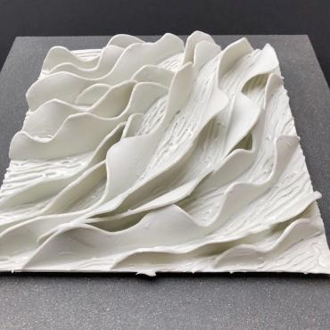 Bas relief collection feuilles