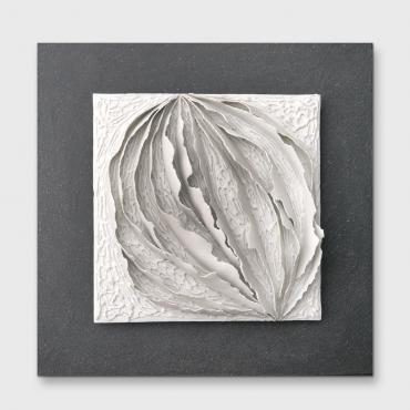 Tableau Bas relief contemporain - Papier Porcelaine