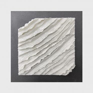 Bas relief contemporain porcelaine collection Ecorces