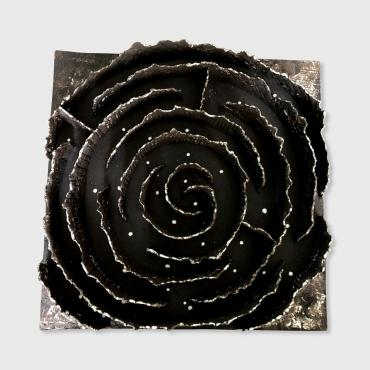 Bas relief Labyrinthe 32x32cm sans support