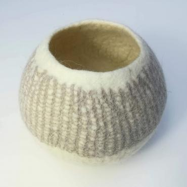 Pot in felt White/beige M