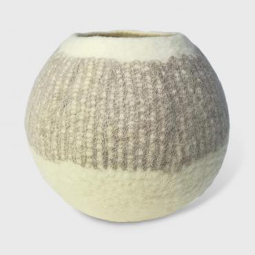 Pot in felt White/beige L