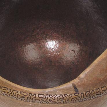Decorative bowl merisier