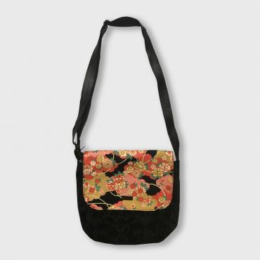 Messenger bag Pivoines Or