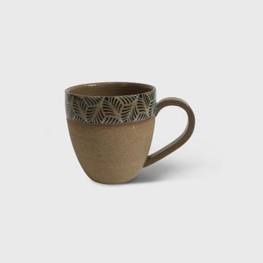 Cup Ocher palm leaf