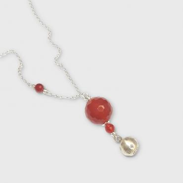 Pregnancy jewel Silver and Cornelian