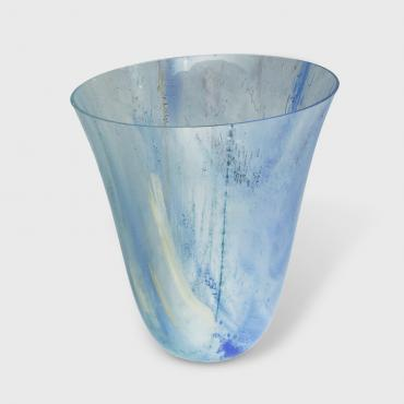 Vase Blue and yellow