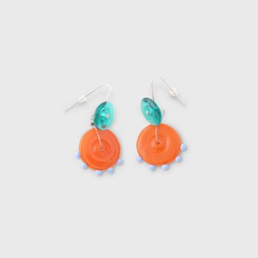 Boucles d'oreilles Coco orange
