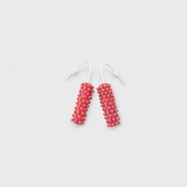 Earrings Cactus red