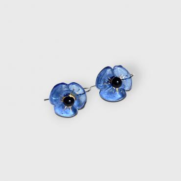 Earrings COQUELICOT light blue