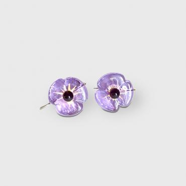 Earrings COQUELICOT lavander