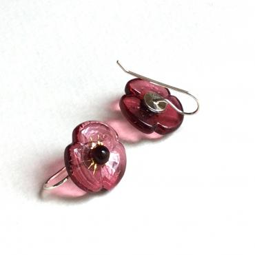 Earrings COQUELICOT rose empire