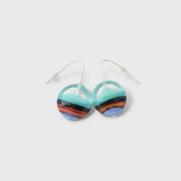 Earrings Lili Plat Blue