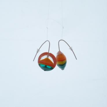 Earrings Lili Plat Orange