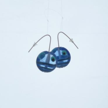Earrings Bleu transparent