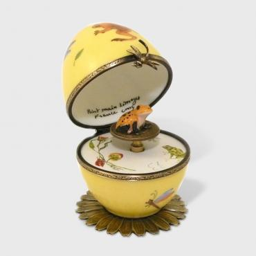 Music box grenouille jaune