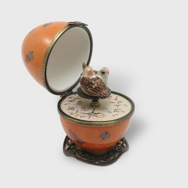Music box œuf orange