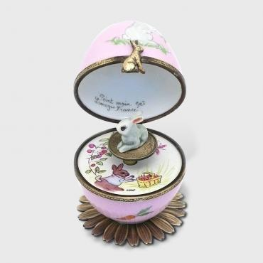 Music box lapin rose