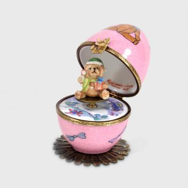 Music Box rose ourson brun et ourson jouets