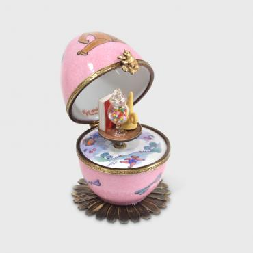 Music box rose ourson brun et jouets