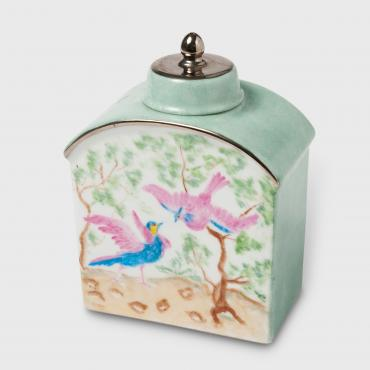 Tea caddy birds