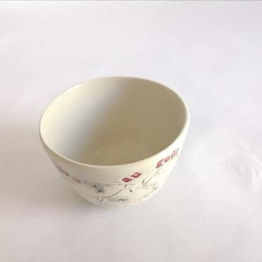 Small red bowl Les Mots Doux