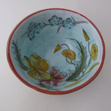 Bowl fleur rouge orange