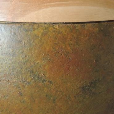 Bowl wood and pigments
