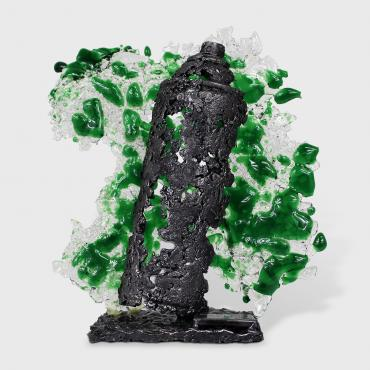 Sculpture spray Bomb green II